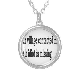Village Idiot Silver Plated Necklace