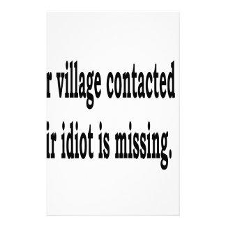 Village Idiot Stationery