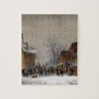 Village in Winter Jigsaw Puzzle