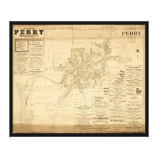 Village of Perry, Wyoming County, New York (1902) Canvas Print