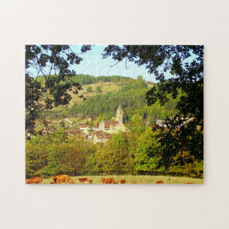 Village of Plazac Photo Puzzle with Gift Box