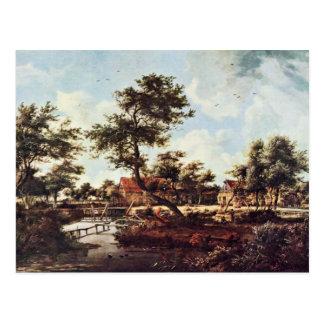 Village Of The Watermills By Hobbema Meindert (Bes Postcard