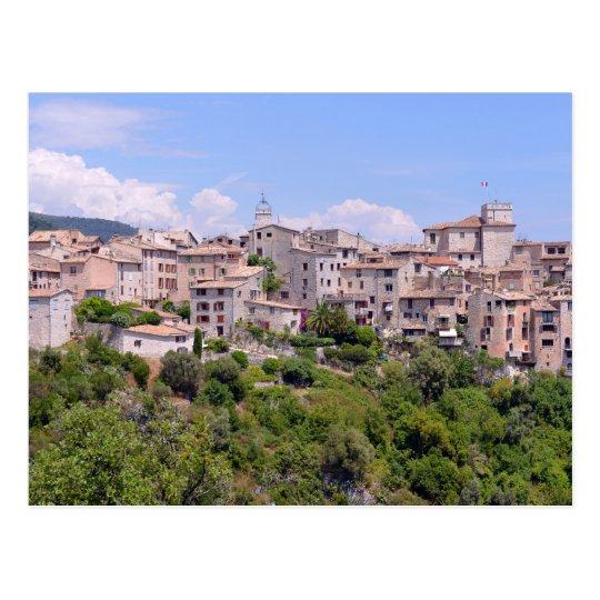 Village of Tourrettes-sur-Loup in France Postcard