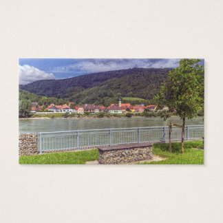 Village of Willendorf on the river Danube, Austria Business Card