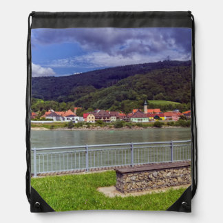 Village of Willendorf on the river Danube, Austria Drawstring Bag