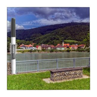Village of Willendorf on the river Danube, Austria Dry Erase Board