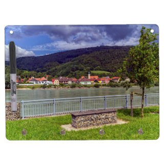 Village of Willendorf on the river Danube, Austria Dry Erase Board With Keychain Holder