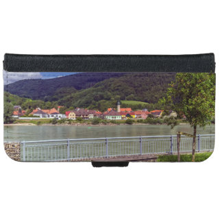 Village of Willendorf on the river Danube, Austria iPhone 6 Wallet Case