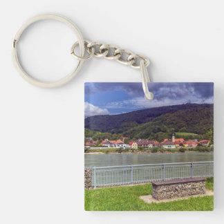 Village of Willendorf on the river Danube, Austria Keychain