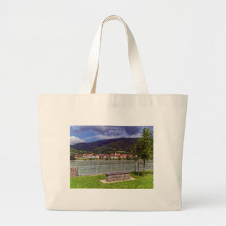 Village of Willendorf on the river Danube, Austria Large Tote Bag