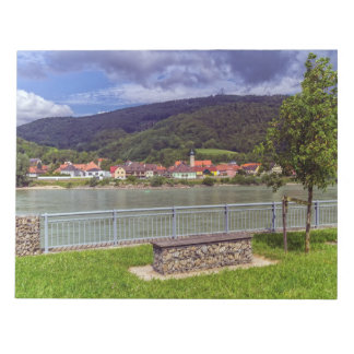 Village of Willendorf on the river Danube, Austria Notepad