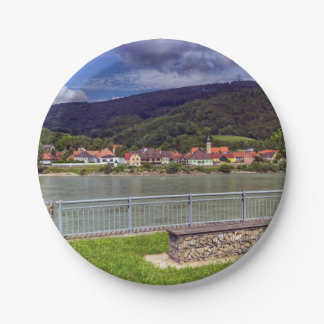 Village of Willendorf on the river Danube, Austria Paper Plate