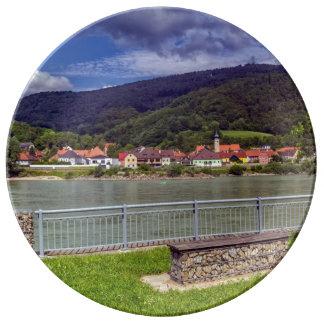 Village of Willendorf on the river Danube, Austria Plate