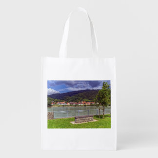 Village of Willendorf on the river Danube, Austria Reusable Grocery Bag