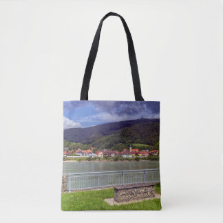 Village of Willendorf on the river Danube, Austria Tote Bag