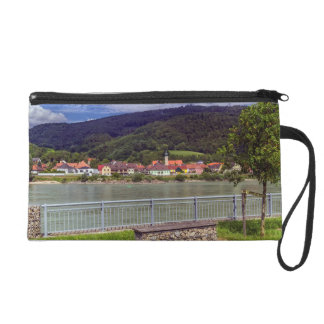 Village of Willendorf on the river Danube, Austria Wristlet