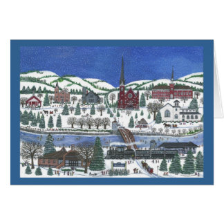 Village on Erie Canal Card