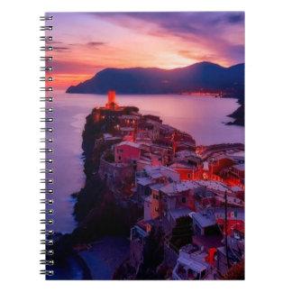 Village on River Landscape Spiral Notebook