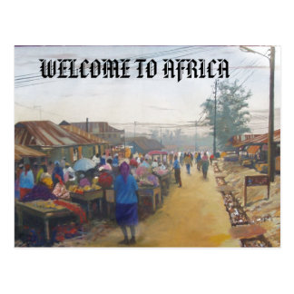 village people, WELCOME TO AFRICA Postcard
