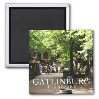 Village square in Gatlinburg, Tennessee souvenir Square Magnet