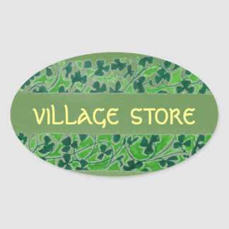 Village Store Oval Sticker