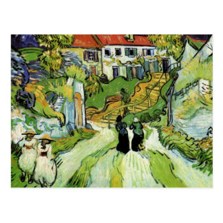 Village Street and Steps in Auvers by van Gogh Postcard