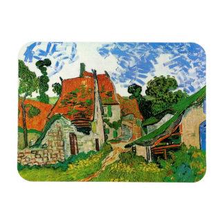 Village Street in Auvers, Vincent van Gogh Magnet