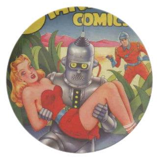Villain Robot Plate