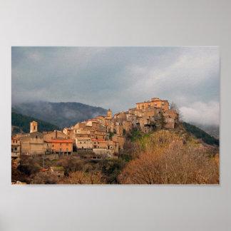 Villalago, Italy Poster
