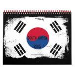 Villes importantes de la Corée du Sud Calendrier Mural
