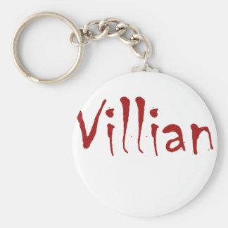Villian Basic Round Button Keychain