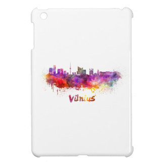 Vilnius skyline in watercolor iPad mini cases