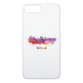 Vilnius skyline in watercolor iPhone 8 plus/7 plus case