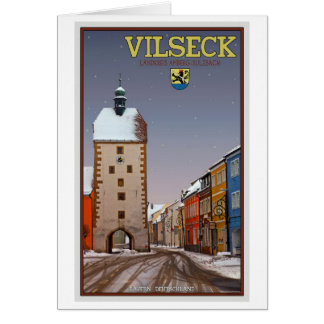 Vilseck - Tower and Gate - Winter Card