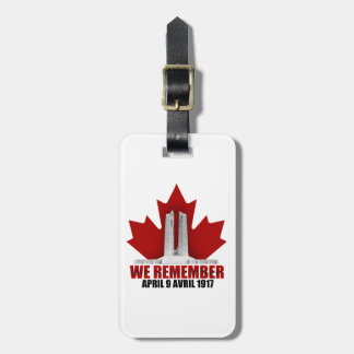 Vimy Ridge We Remember Bag Tag