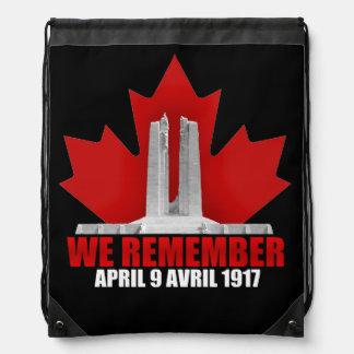 Vimy Ridge We Remember Drawstring Bag