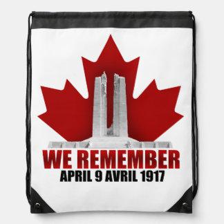 Vimy Ridge We Remember Drawstring Bags
