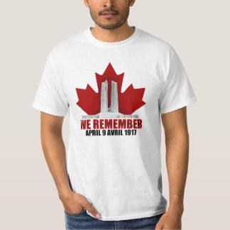 Vimy Ridge We Remember T-Shirt