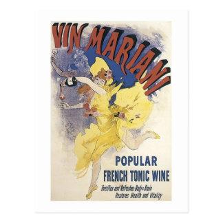 Vin Marian French Tonic Wine Postcard