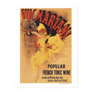 Vin Mariani Dancing Girl Pouring Wine Postcard