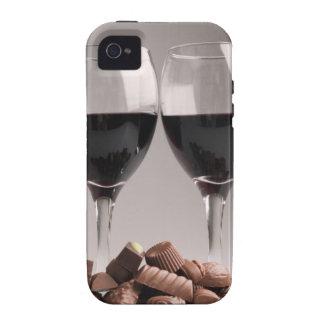 vin rouge avec des chocolats coques iPhone 4/4S