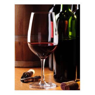 Vin rouge carte postale