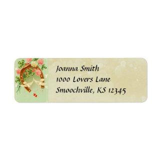 Vinage Irish Wedding Return Address Label
