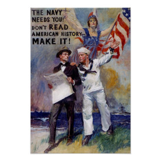 Vinage Navy Recruit Poster