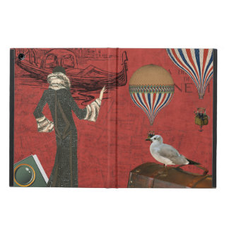 Vinage Venice Travels Ephemera in Red Case For iPad Air