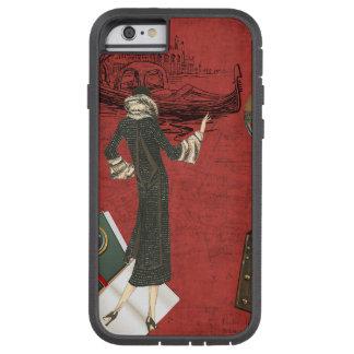 Vinage Venice Travels Ephemera in Red Tough Xtreme iPhone 6 Case