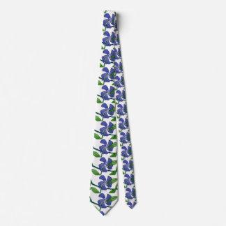 """""""Vinca #1"""" Flower Garden Neck Tie"""