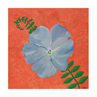 Vinca Vine Painting Wood Print