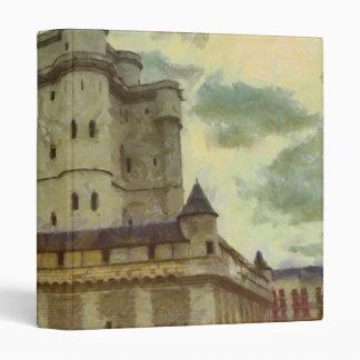 Vincennes castle, Paris painting 3 Ring Binder
