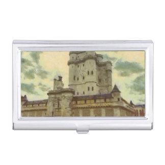 Vincennes castle, Paris painting Business Card Holder